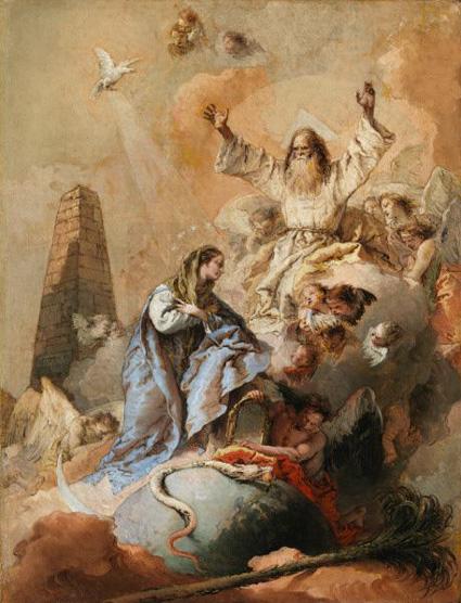 Tiepolo ‒ Alegorie Neposkvrněného početí (1769)